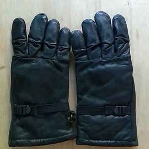 Medium military surplus leather gloves